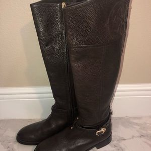 Authentic Tory Burch Marlene Riding Boots